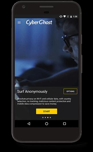 CyberGhost VPN Android VPN aplikácia
