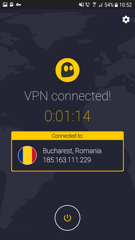 A takto sme pripojení hneď - vidíme VPN server a čas pripojenia