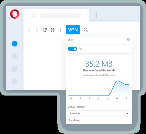 Opera VPN prehliadač